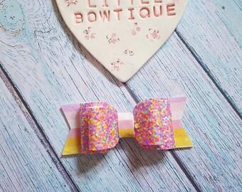Rainbow Sprinkle Bow