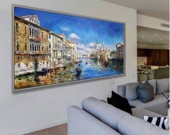"Venice Italy Art Painting 24x48"" /60x120cm Italian Art Work"