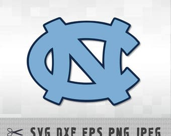 University North Carolina Tar Heels SVG DXF Logo Vector Cut File Silhouette Cameo Cricut Design Template Stencil Vinyl Decal Heat Transfer