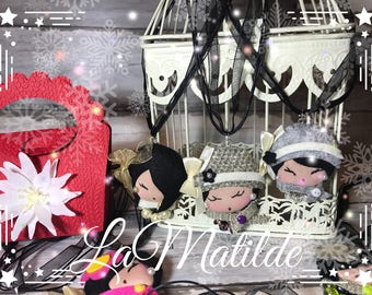 """""""Pravitha"""" Doll necklace with gift box, Christmas gift Idea"""