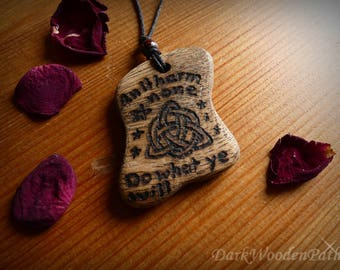 Necklace ~ Wiccan speech ~ with Triquetra