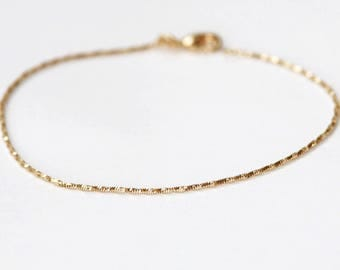 Gold plated twisted bracelet