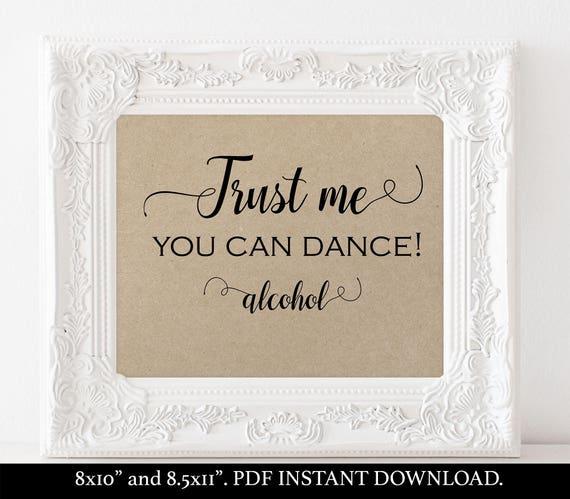 Alcohol wedding sign