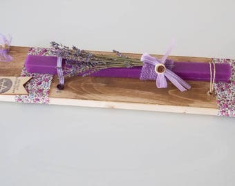 Dried lavender bouquet etsy easter candles for girls lavender lambada purple candle for godchild easter gift negle Choice Image