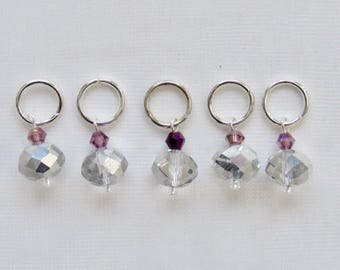 SALE Sparkling Beaded Stitch Markers