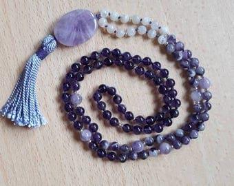Mala in semiprecious stones, Japa mala 108 grains