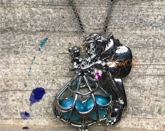 Last Dance Beauty And The Beast Pearl Cage Pendant Optional Chain