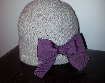 Hat in pure wool with removable bow 24/36 months