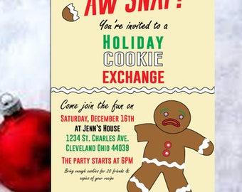 Christmas, Cookie exchange, cookie exchange party, swap invitations, Holiday Cookie Exchange, Cookie Party, Christmas Party, Holiday