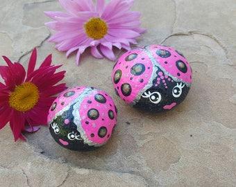 Painted rocks, painted stone, painted ladybugs, garden decor, mandala rock,home decor,mandala rocks