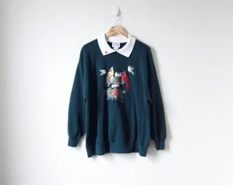 90s Cardinals Bird Feeder Sweatshirt - Animal Sweatshirt - Nature Sweatshirt - Oversized Sweatshirt - Bird Sweatshirt - Women's 2X