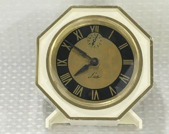 Vintage LUX Wind-Up Alarm Clock Robertshaw Controls Co Lux Time Lebanon Tenn - Nice Condition! FREE SHIPPING!