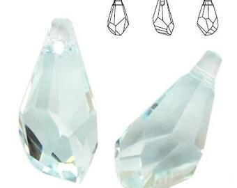 Swarovski Elements, Polygon Drop 17mm Light Azore, Swarovski Polygon, Swarovski drop, light blue crystal, Swarovski crystal, blue crystal