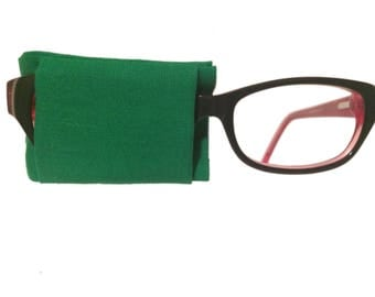 Eye patch for glasses -GREEN - baby child kids adult eye patch