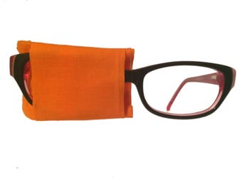 Eye patch for glasses - ORANGE - baby child kids adult eye patch