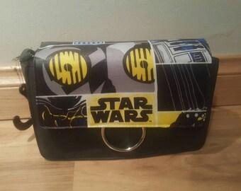 star wars - droid r2d2 c3po themed handbag - custom made