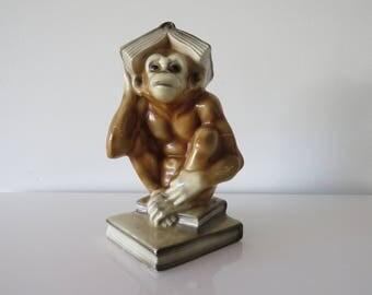 Dutch Art Deco Monkey pottery 30 's.