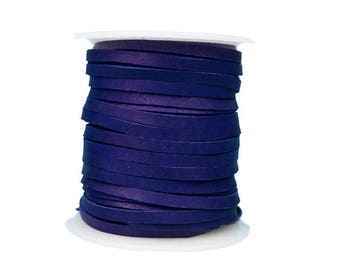 Purple Deerskin Lacing - (1) 50 foot spool, 1/8th inch lace (297-18x50PP)