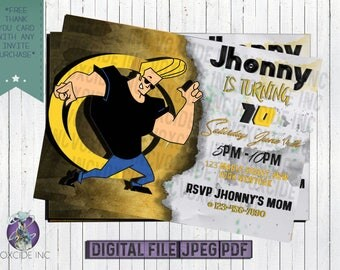 Jhonny Bravo Invitation