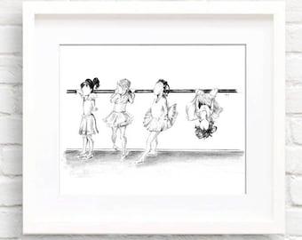 Girls • Art Print   Fashion Illustration