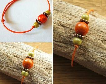 Waxed cotton bracelet 16264