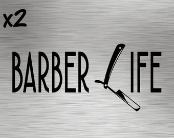 Two - Barber Life Decals