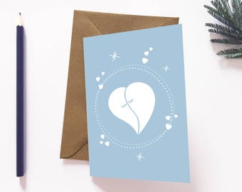 Greeting card, love card, postcard, I love you, your credit card, cute card, happiness, gift for woman
