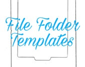 Mini File Folder Templates