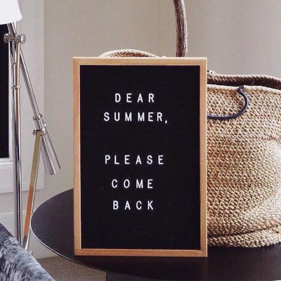 Black Felt Letter Board | 12x18