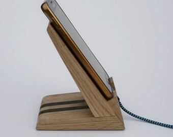 Handyständer, iPhone-docking-Station,iPhone Dock, Ladestation Cradle,Holz iPhone Ständer,Handy Stand und Ladestation
