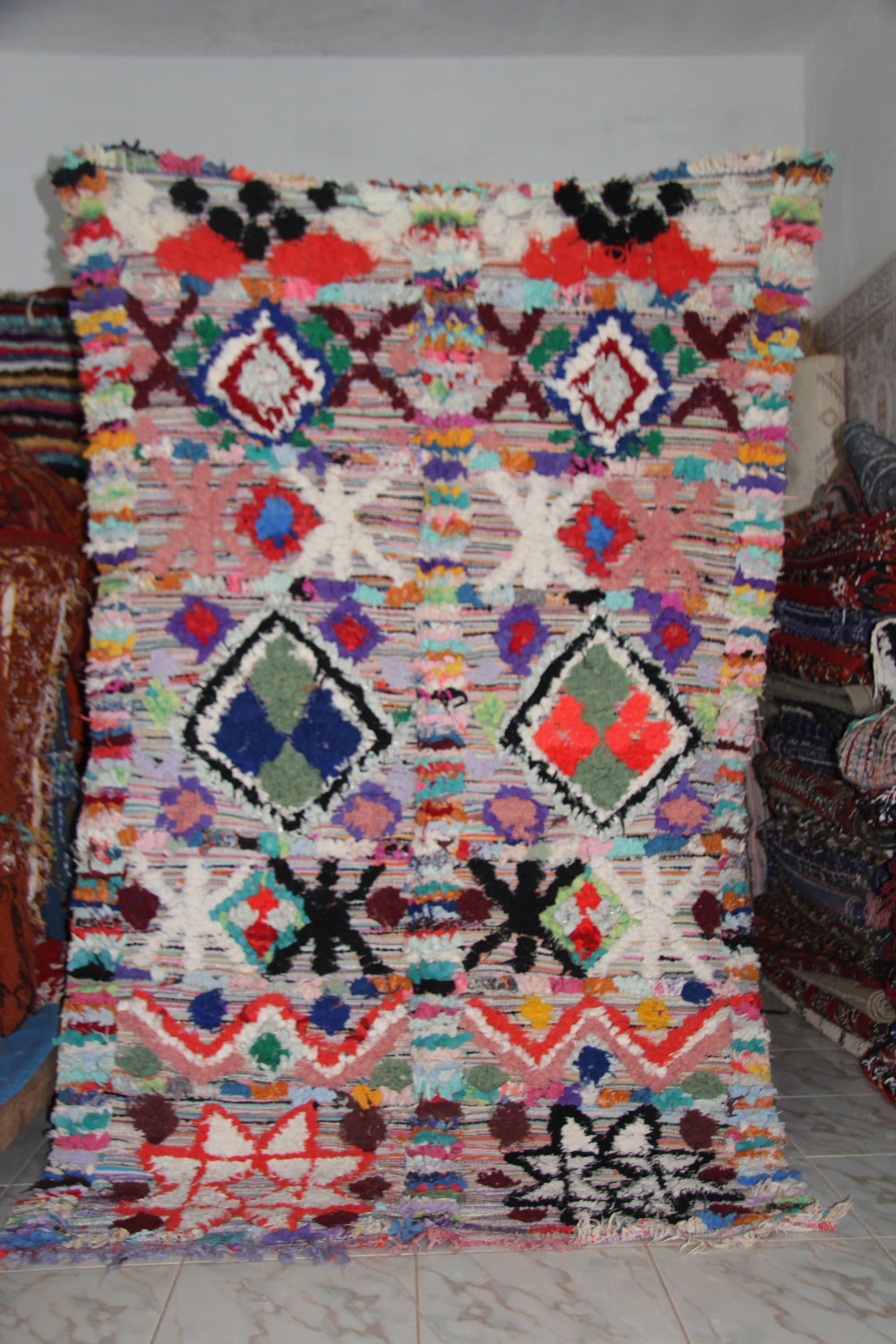Boucherouite Tribal Art Rug Tapis Marocain E1023101840309197m