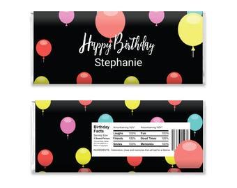Chocolate Bar Favors, Editable Chocolate Bar Wrappers, Chocolate Bar Wrapper, Candy Bar Template, Birthday Party Favor, Gift Favor, Custom