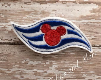 Mickey Disney Cruise Flag Iron On Patch, Sew On Patch, Embroidered Iron or Sew on Patch, summer time, Cruise Vacation, Disney Vacation