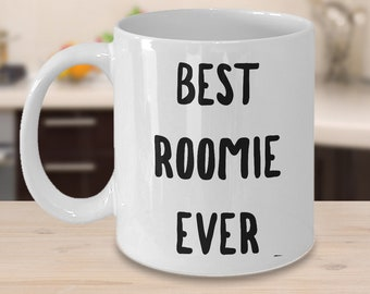 Roommate Gift College - Roommate Mug - Roomie Gifts - Roomie Coffee Mug - Best Roomie Ever Cute Ceramic Coffee Cup