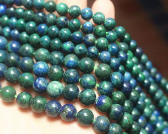 "15"" Full Strand,6mm 8mm 10mm 12mm Chrysocolla Beads, Dyed Chrysocolla Beads,Gemstone Round Beads."