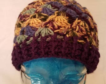 Variegated Colored Beanie