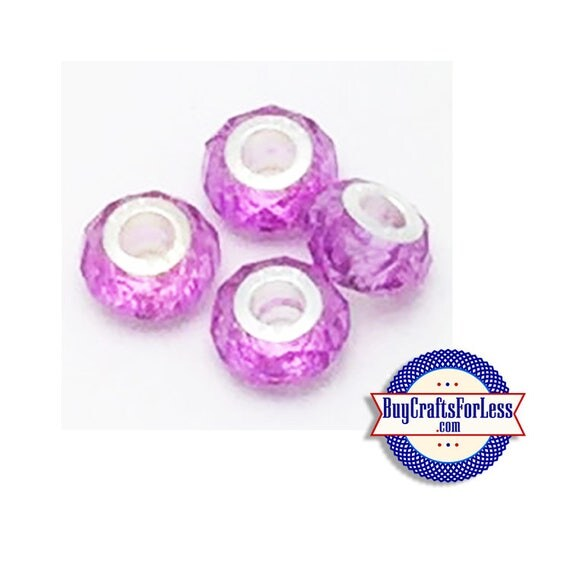 Acrylic Beads, LAVENDER, Multi-Faceted, Choose 8 or 25 pcs  +FREE Shipping & Discounts*