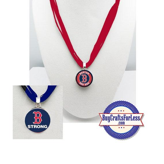 RED SOX Baseball PENDaNT, CHooSE Design and Ribbon Cord - Super CUTE!  +FReE SHiPPiNG & Discounts*