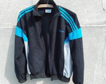 Adidas vintage suede jacket