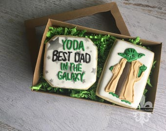 Father's Day Yoda Cookie Set
