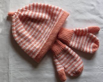 Gloves Hand Knitted Baby Toddler Mitts in Merino Wool