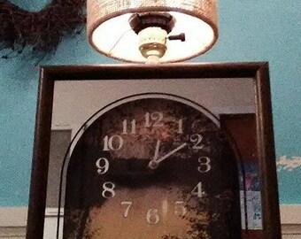 Custom Made Clock Lamp