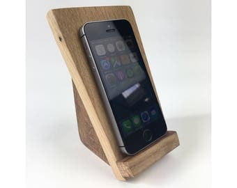 Wooden IPhone Stand Iphone Stand Phone Stand Iphone Docking Station Wood Phone Stand