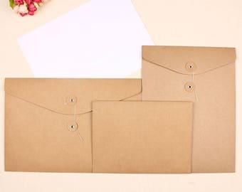 20pcs 32 * 23cm kraft paper without words blank A4 file bag line deduction information bag
