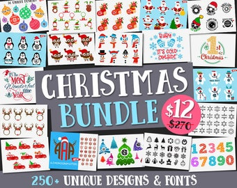Christmas Svg Christmas Bundle Svg Christmas svg files Christmas Monogram Svg Dxf Christmas Cricut Silhouette Christmas cutting clip art Svg