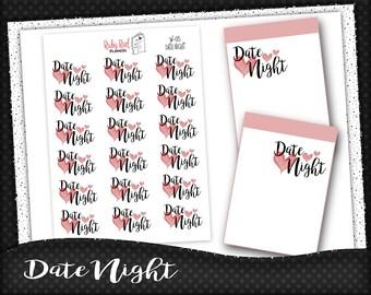 Date Night Stickers - Planner Stickers - Erin Condren Stickers - Happy Planner - Word Stickers - Reminder Stickers - W-05