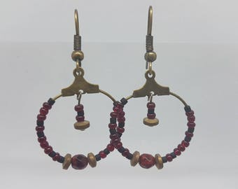 Hoop earrings beads