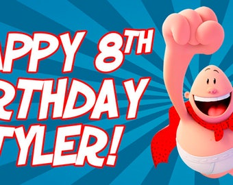 Captain UnderPants Personalized Birthday Banner/Backdrop