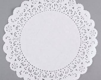 "12"" 100PCS White Paper Lace Grease Proof Doilies, Paper Doilies, Doily, Lace Doily, Lace Doilies, Grease Proof Doilies, White Lace Doily"