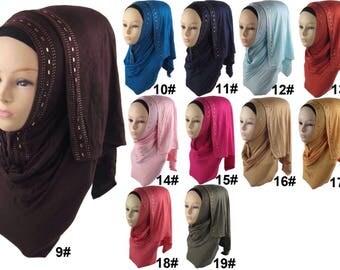 Cotton Jersey scarf hijab